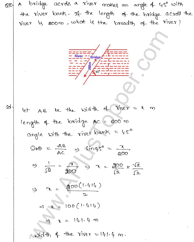 ml-aggarwal-icse-solutions-for-class-10-maths-chapter-21-heights-and-distances-9
