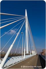 Bicicleta sobre el puente Prins Clausbrug