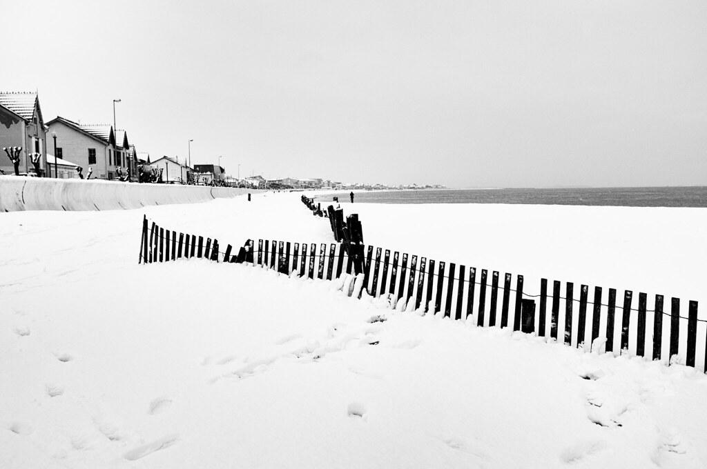 Sous la neige... le sable !!!