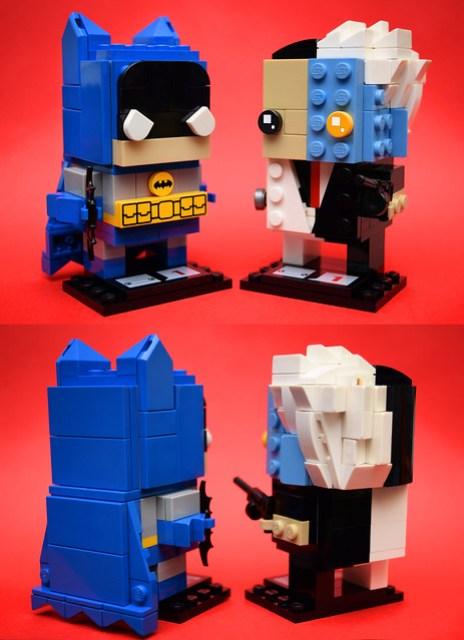 Brickheadz:蝙蝠侠(青铜时代)和两个脸(助教)