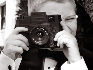 Kid with a kid camera