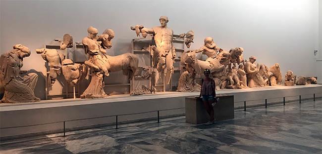 Metopas templo de Zeus | Museo de Olimpia | Ruta por Grecia