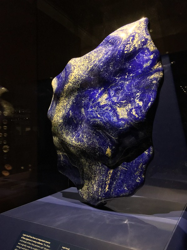 Shiny blue pebbles