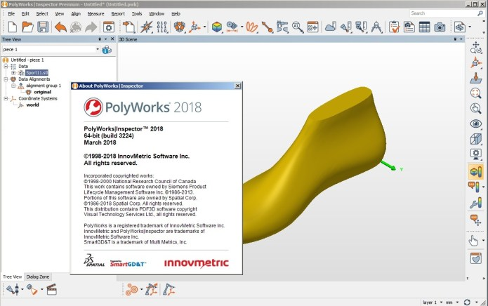 Working with InnovMetric PolyWorks Metrology Suite 2018 full license