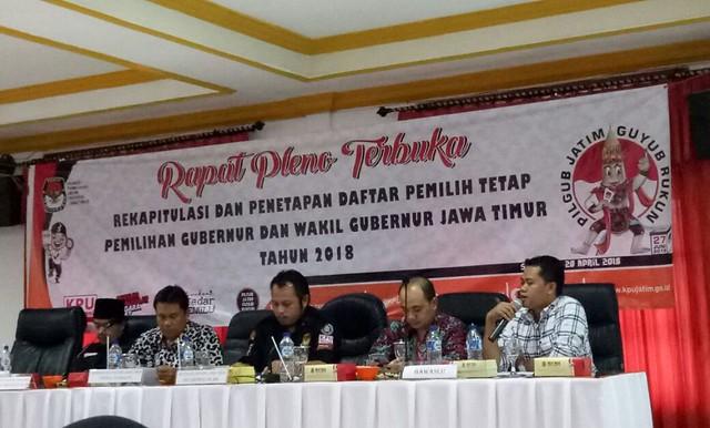 Penetapan DPT Provinsi Jatim yang digelar pada Jumat (20/4)