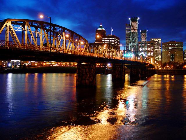 Portland at dusk.