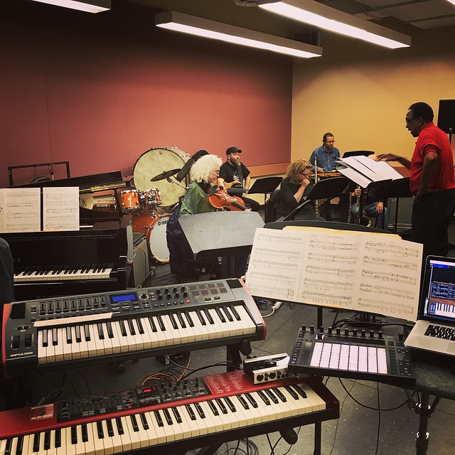 In Rehearsal for Carman Moore's Skymusic Ensemble