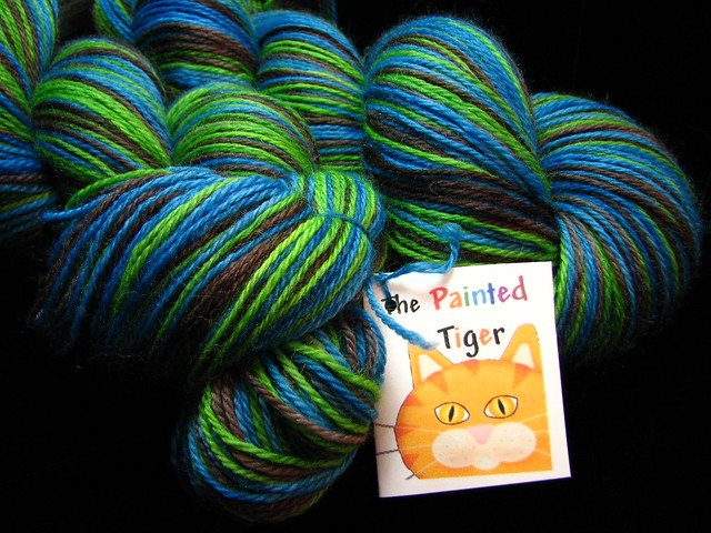 Annestown Beach - March 2018 Tiger Club - Safari Self Striping Sock Yarn