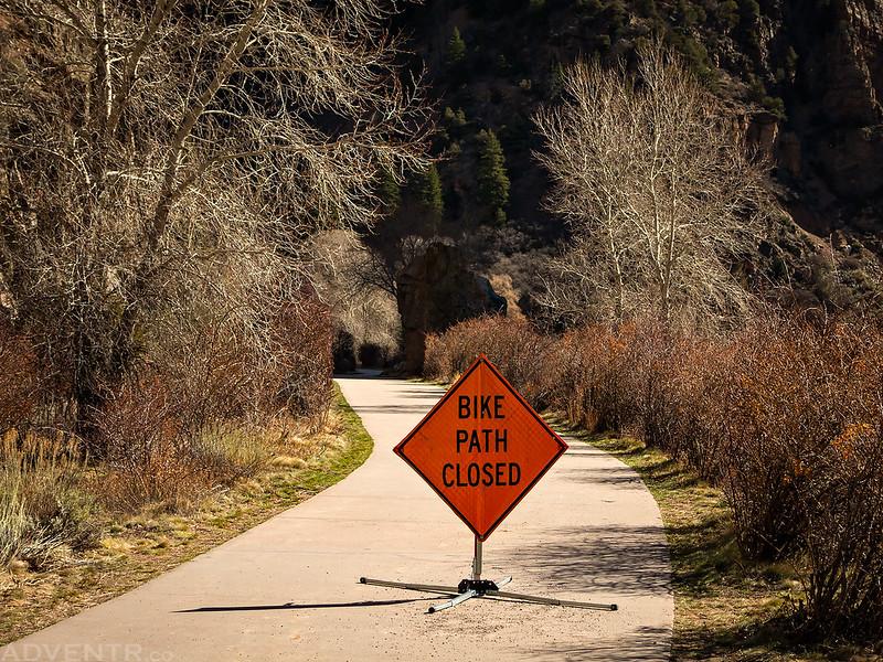 Bike Path Closed