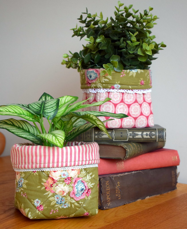 Quilted Plant Pot Covers