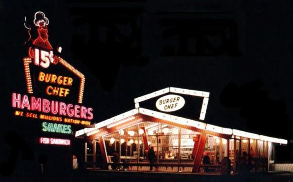 Burger Chef postcard - location unknown - 1960s
