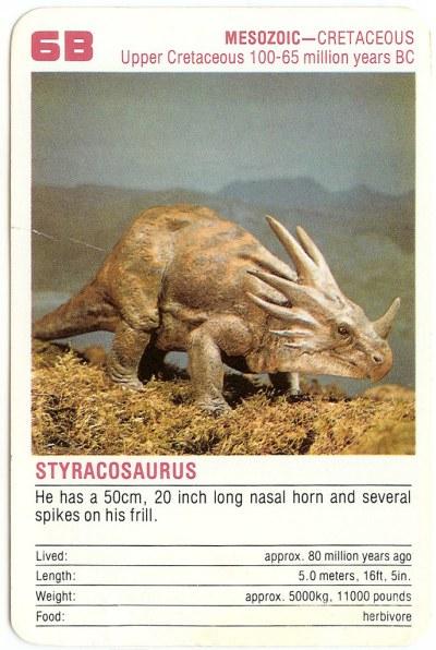 6B Styracosaurus