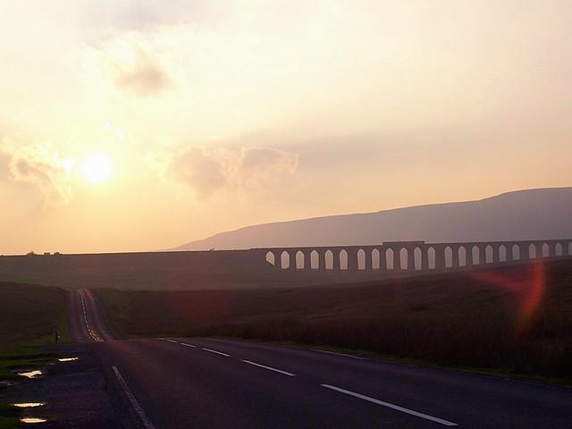 silhouette of train