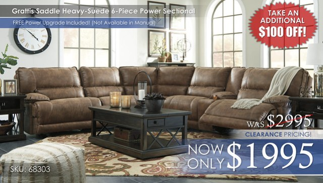 Grattis Sectional 6PC 68303_Clearance100offstamp