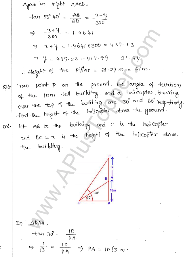ml-aggarwal-icse-solutions-for-class-10-maths-chapter-21-heights-and-distances-15