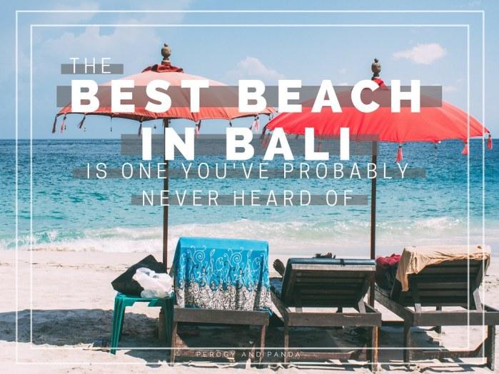 The BEST Beach in Bali (Virgin Beach)
