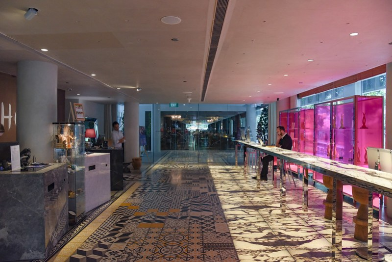 lobby of m social singapore