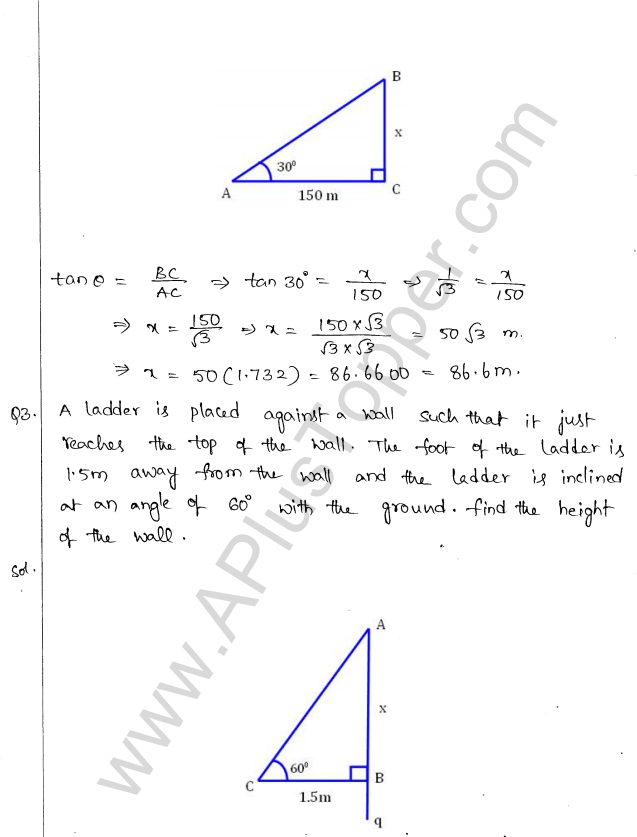 ml-aggarwal-icse-solutions-for-class-10-maths-chapter-21-heights-and-distances-2