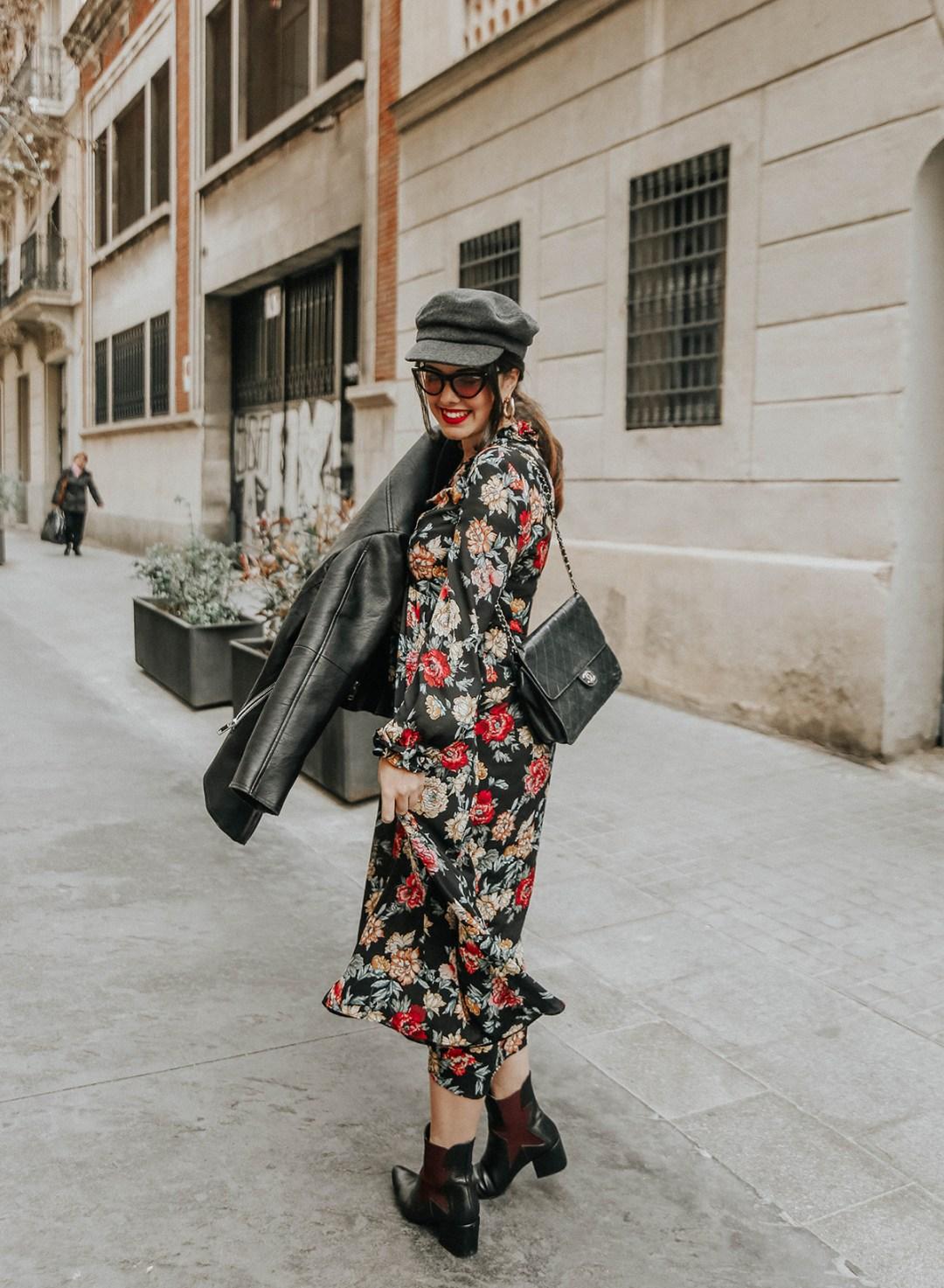 vestido-flores-midi-zara-botines-amazon-find-streetstyle