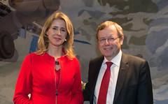 Jan Wörner, DG ESA and Mona Keijzer, State Secretary for Economic Affairs and Climate