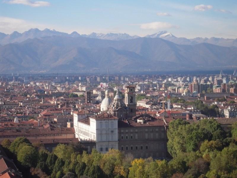 Turin view from Mole Antonelliana