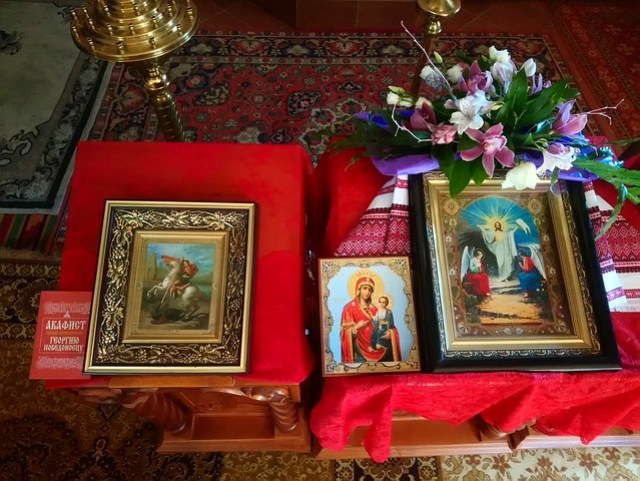 2018 05 06 The Holy Great Martyr George the Victory-Bearer. The Iversk icon of the Mother of God. The Resurrection of Jesus Christ