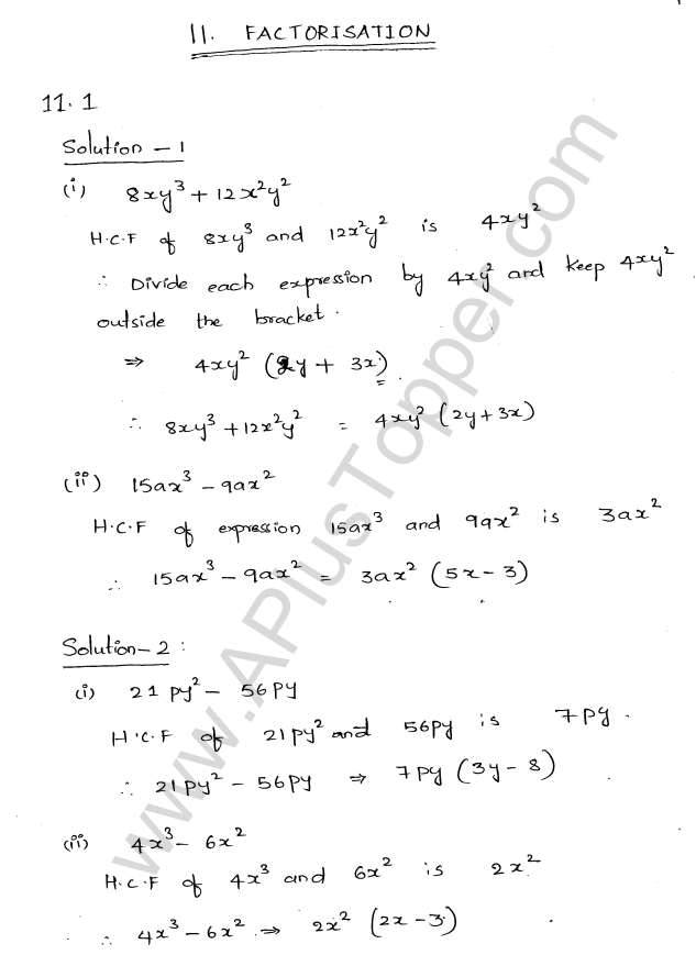Ml Aggarwal Icse Solutions For Class 8 Maths Chapter 11