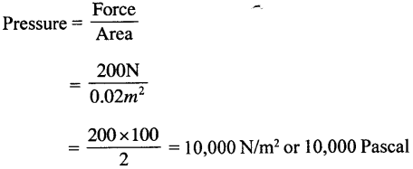 Selina Concise Physics Class 8 ICSE Solutions - Force and Pressure 19.1
