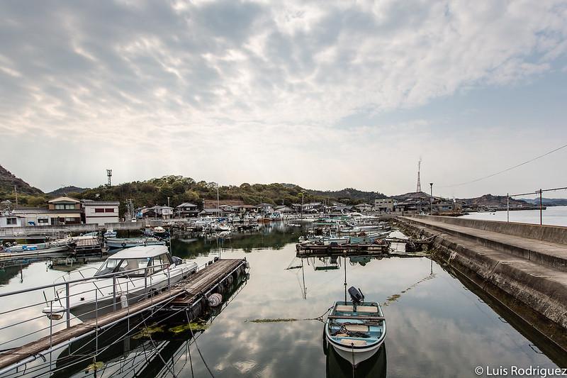 Puerto de Honmura en Naoshima