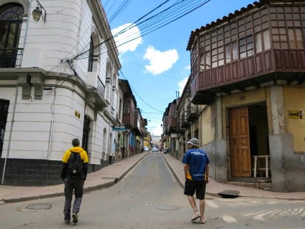 Ruta a pie por el centro de Potosi