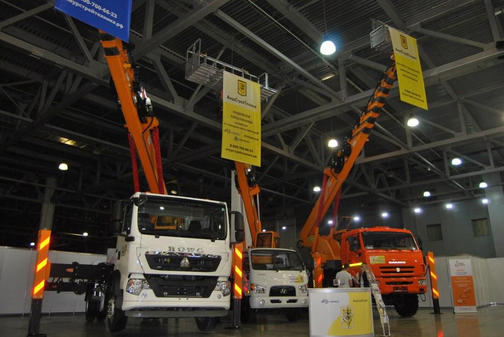 АГП Hansin 450A на шасси Howo T5G и КамАЗ-43118