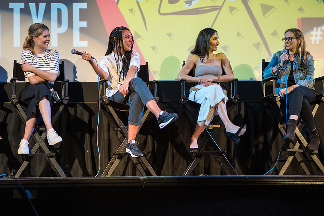 Meghann Fahy, Aisha Dee, Nikohl Boosheri and Amanda Lasher