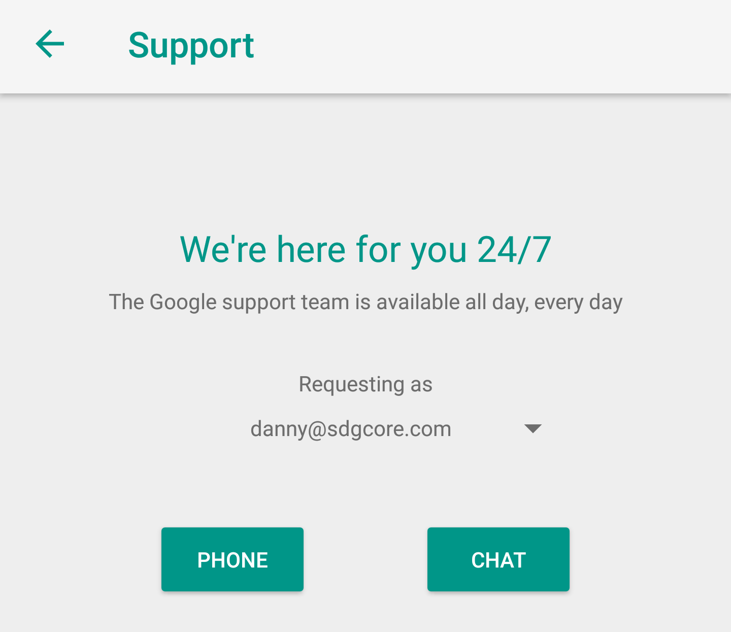 Google support