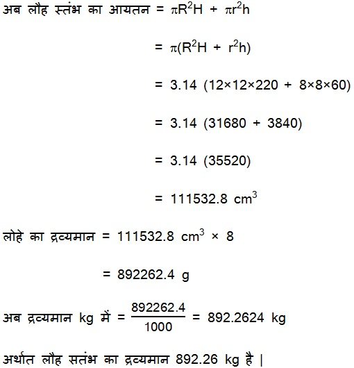 Solutions For NCERT Maths Class 10 Hindi Medium Surface Areas and Volumes 13.1 31