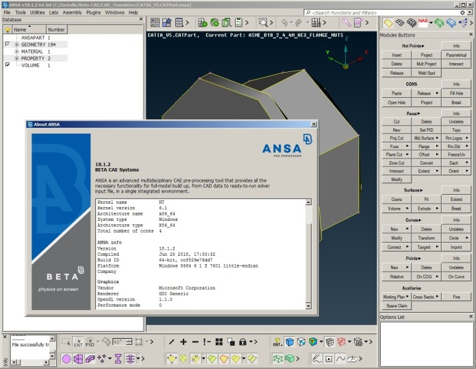 Working with BETA-CAE Systems Nasa v18.1.2 full license