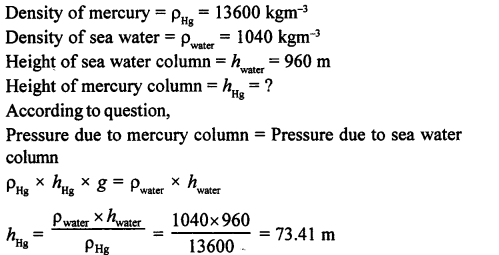 A New Approach to ICSE Physics Part 1 Class 9 Solutions Pressure in Fluids.015