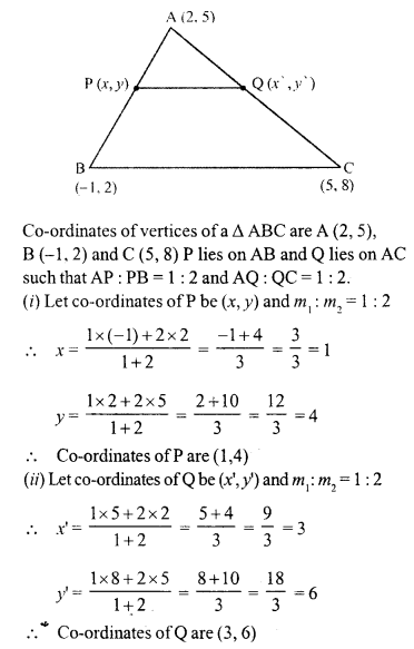 Selina Concise Mathematics Class 10 ICSE Solutions Chapter 13 Section and Mid-Point Formula Ex 13A 19