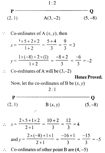 Selina Concise Mathematics Class 10 ICSE Solutions Chapter 13 Section and Mid-Point Formula Ex 13A 16.1
