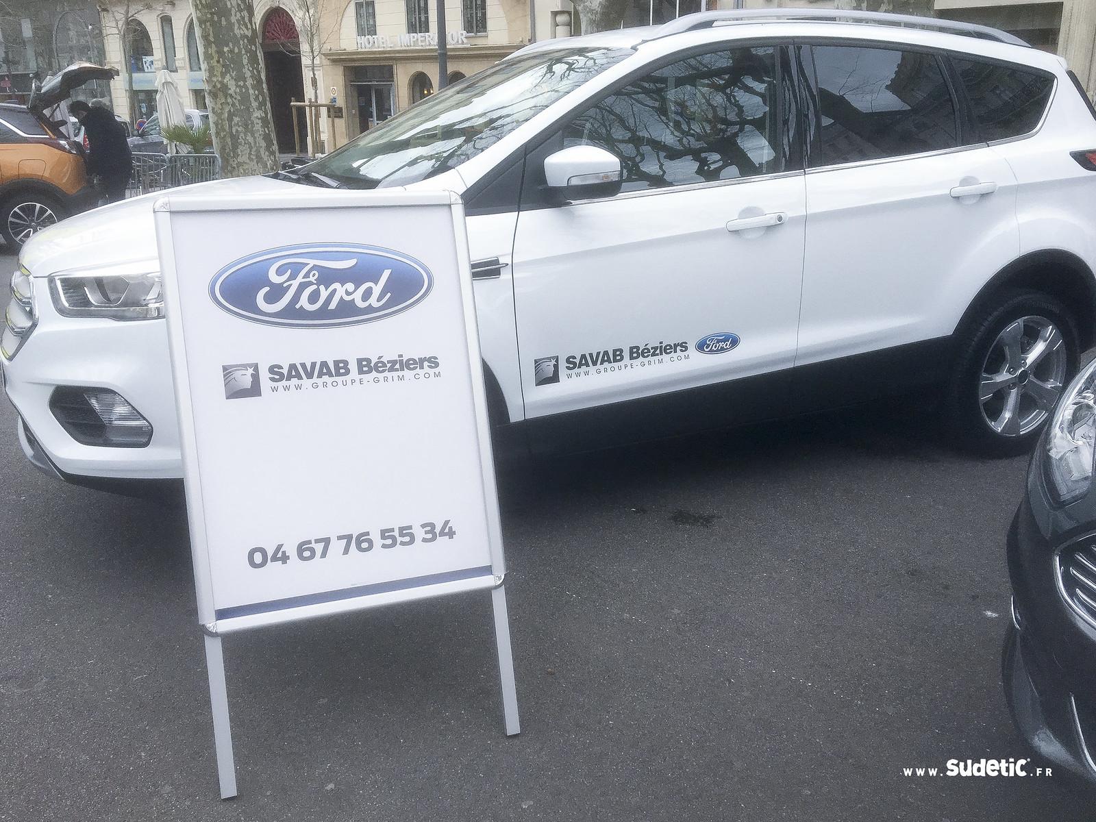 Sudetic chevalet et adhésifs Ford SAVAB-2