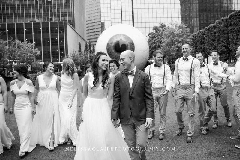 Giant Eyeball Bridal Party