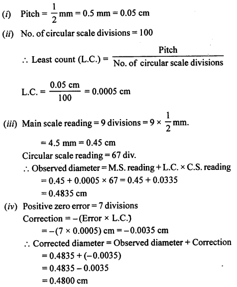 A New Approach to ICSE Physics Part 1 Class 9 Solutions Measurements and Experimentation 33