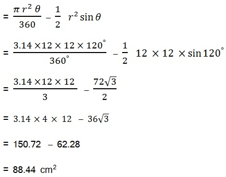 NCERT Maths Solutions For Class 10 Areas Related to Circles 21