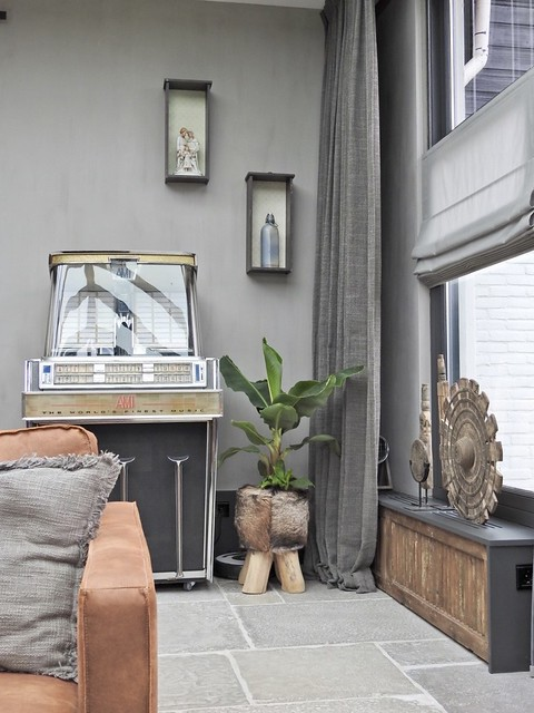 Jukebox vensterbank ombouw landelijke stijl