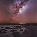 Milky Way over the Stromatolites of Lake Thetis in Western Australia