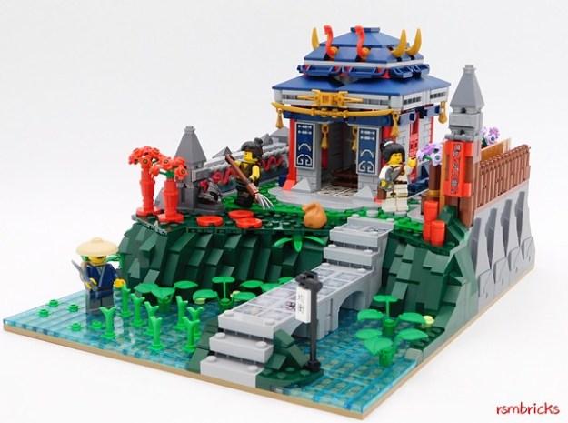 蛇Samourai寺庙