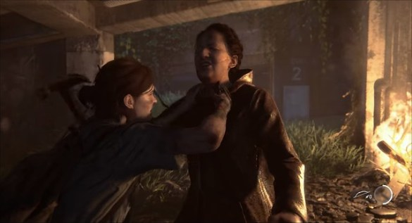 Last of Us Part 2 - Ellie Stabs Woman