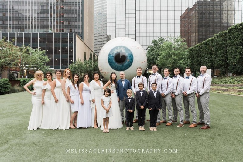 Giant Eyeball Bridal Party