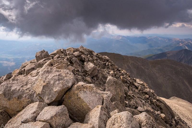Mount Shavano Summit Under Clouds