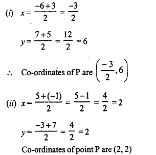 Selina Concise Mathematics Class 10 ICSE Solutions Chapter 13 Section and Mid-Point Formula Ex 13B 1