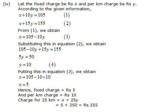 NCERT Solutions for Class 10 Maths Chapter 3 Pair of Linear Equations in Two Variables 52